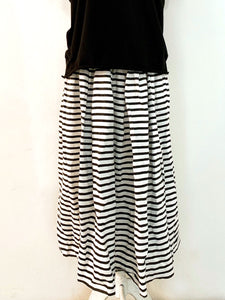 Elbe striped linen skirt