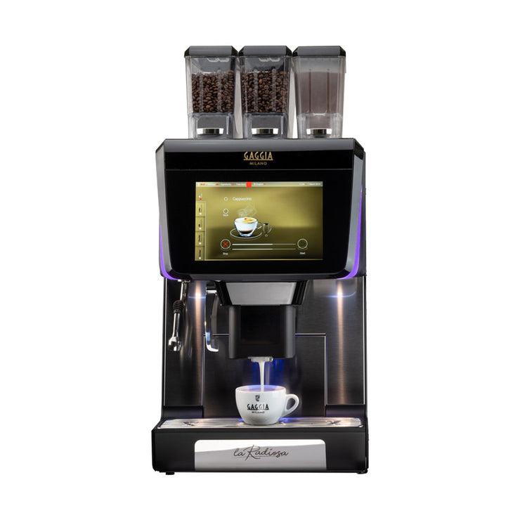 Gaggia La Radiosa Commercial Bean to Cup Coffee Machine with 2 bean and 1 soluble container