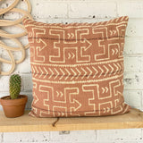 Rust Mud Cloth Inspired Cushion Cover