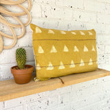 Mustard Lumbar Mud Cloth Inspired Cushion Cover