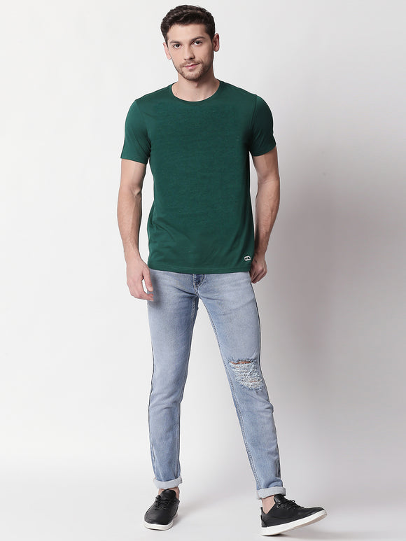 Men  Blue Mid Rise Full length Slim Fit Jeans