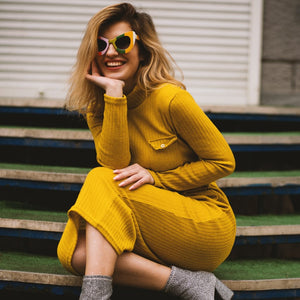 Goldenrod Sweaterdress