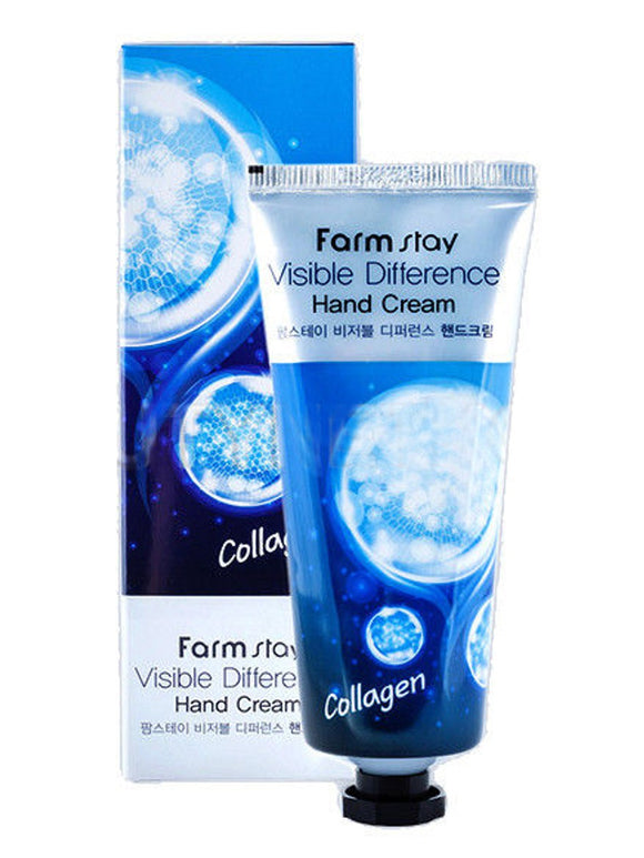 FARMSTAY VISIBLE DIFFERENCE HAND CREAM COLLAGEN farm stay korean asian skincare cosmetics canada thekshop