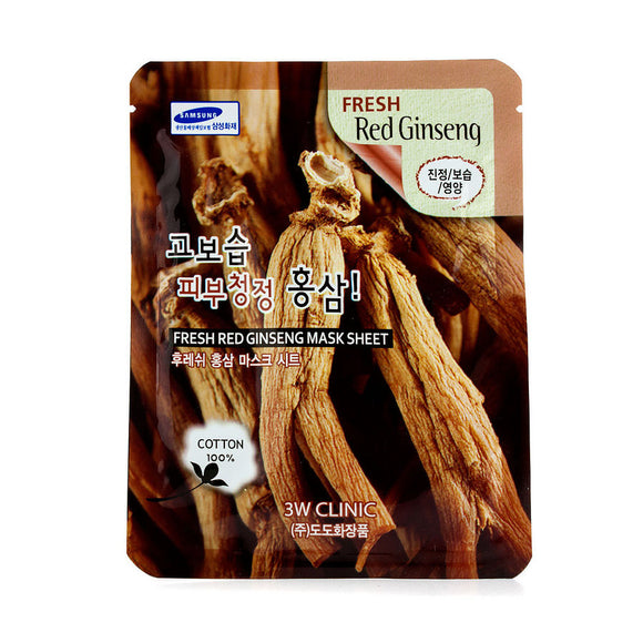 3W CLINIC FRESH RED GINSENG MASK SHEET THEKSHOP