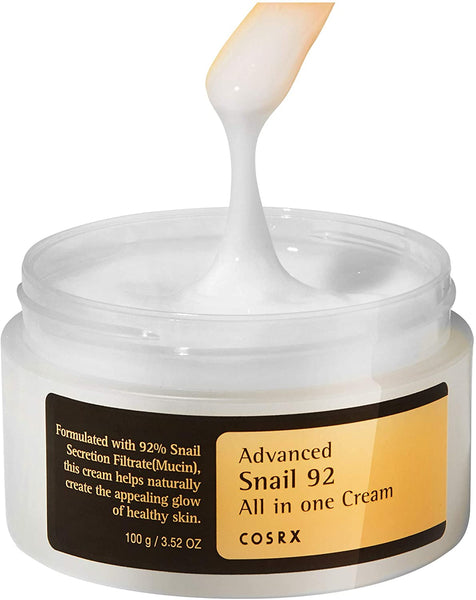 COSRX Advanced Snail 92 All in One Cream asian korean skincare montreal toronto canada thekshop thekshop.ca natural organic vegan cruelty-free cosmetics
