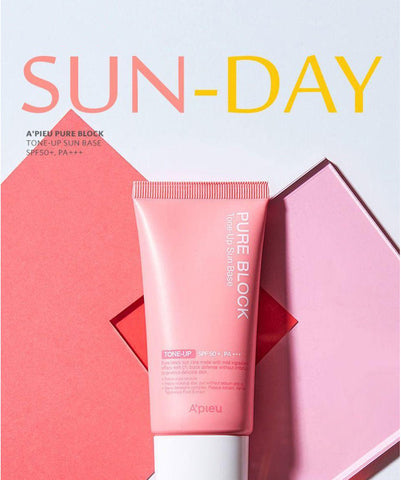 A'PIEU Pure Block Tone Up Sun Base SPF50+ PA+++ Montreal Canada Best Korean Asian Sunblock Sunscreen