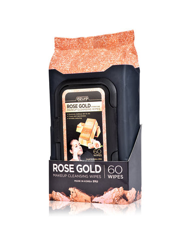 Azure Rose Gold Luxury Cleansing Facial Wipes - 60 count