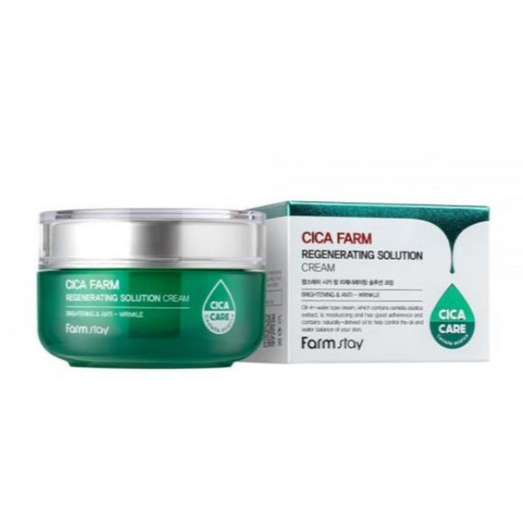 Cica Farm Regenerating Solution Cream asian korean skincare montreal toronto canada thekshop thekshop.ca natural organic vegan cruelty-free cosmetics