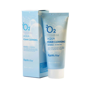 Farm stay O2 Premium Aqua Foam Cleansing 100ml asian korean skincare montreal toronto canada thekshop thekshop.ca natural organic vegan cruelty-free cosmetics
