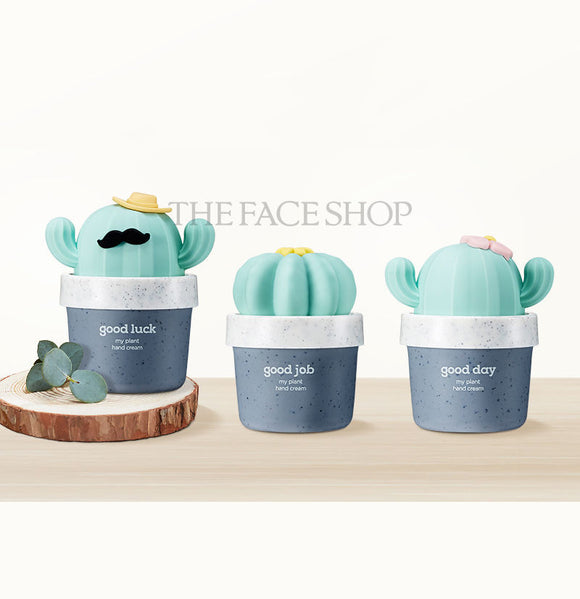 THE FACE SHOP My Plant Hand Cream asian korean skincare montreal toronto canada thekshop thekshop.ca natural organic vegan cruelty-free cosmetics good luck good day good job