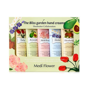 MEDI FLOWER (Mediflower) The Bliss Garden Hand Creams Set 50g * 5ea asian korean skincare montreal toronto canada thekshop thekshop.ca natural organic vegan cruelty-free cosmetics