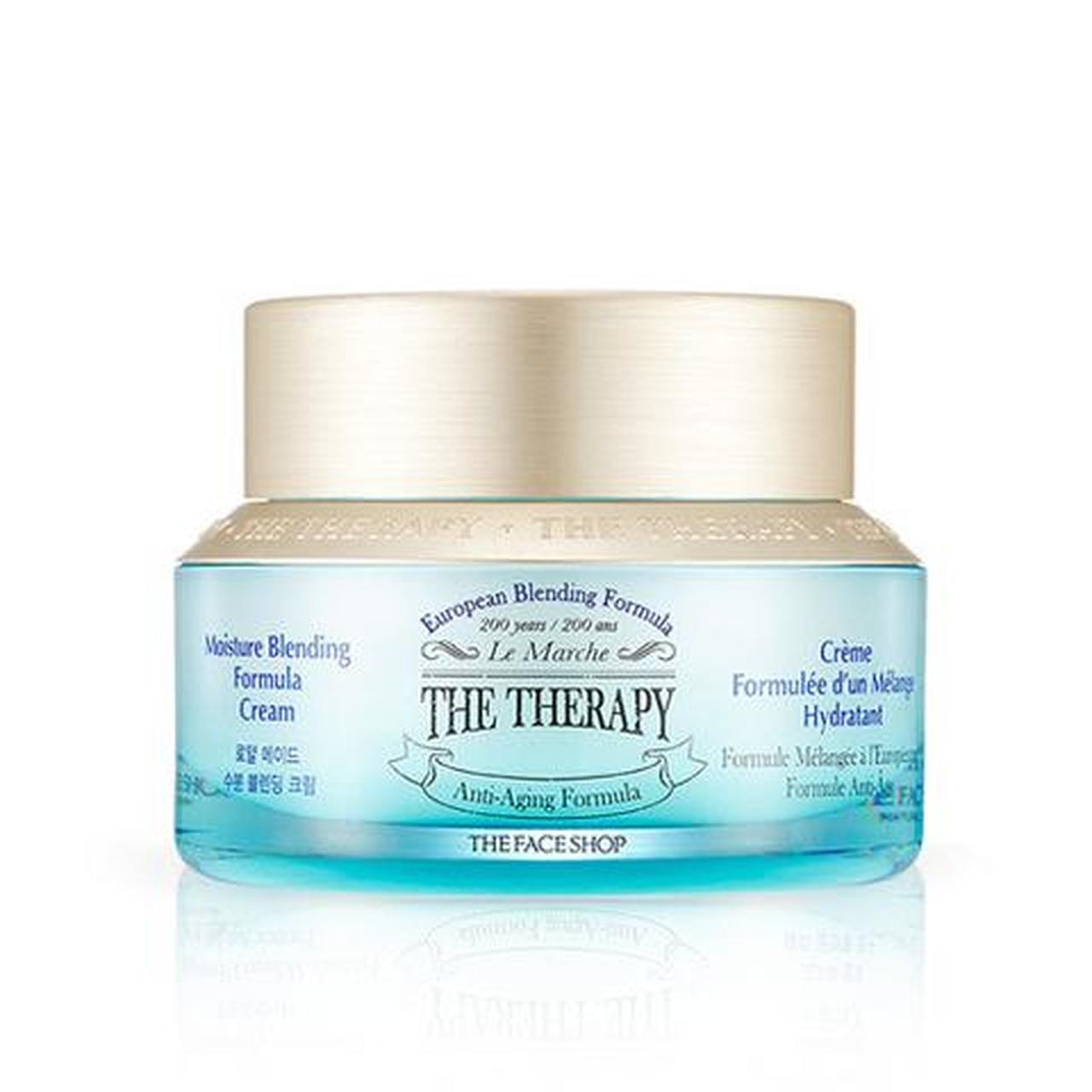 THEFACESHOP (THE FACE SHOP) THE THERAPY Moisture Blending Formula Cream Korean Skincare Cosmetics Montreal Toronto Canada thekshop