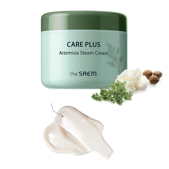 THE SAEM - Care Plus Artemisia Steam Cream asian authentic genuine original korean skincare montreal toronto canada thekshop thekshop.ca natural organic vegan cruelty-free cosmetics