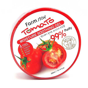 FARM STAY TOMATO MOISTURE SOOTHING GEL - 300ML farm stay korean asian skincare skin care canada thekshop