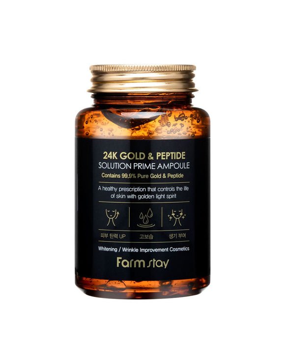 FARM STAY ( FARMSTAY )24K Gold & Peptide Solution Prime Ampoule