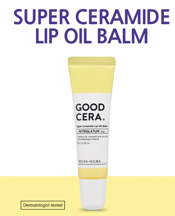 HOLIKA HOLIKA Good Cera Super Ceramide Lip Oil Balm asian korean skincare montreal toronto canada thekshop thekshop.ca natural organic vegan cruelty-free cosmetics