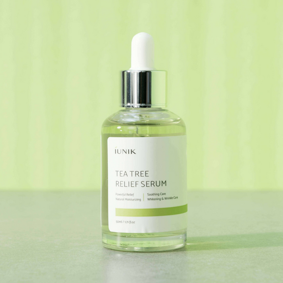 iUNIK Tea Tree Relief Serum Korean Asian cosmetics skincare Canada Montreal Toronto thekshop