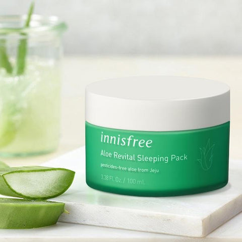 INNISFREE Aloe from Jeju revital sleeping pack asian korean skincare canada montreal toronto