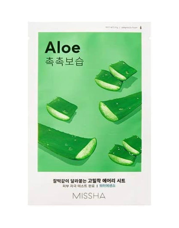 MISSHA Airy Fit Sheet Mask, Aloe