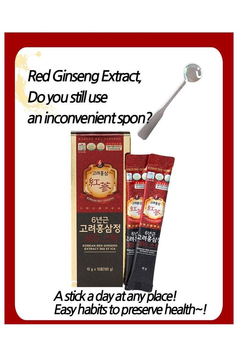 KOREAN RED GINSENG 6 Years Extract 365 Stick 10g x 10Sticks Korea Red Ginseng