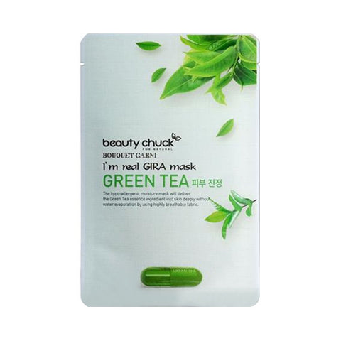 BEAUTY CHUCK I'M REAL GIRA MASK GREEN TEA