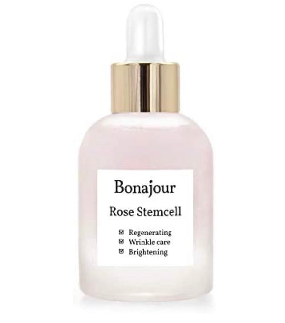 BONAJOUR Rose Stem Cell Ampoule - Best Face Anti-Wrinkle & Aging, Brightening Care