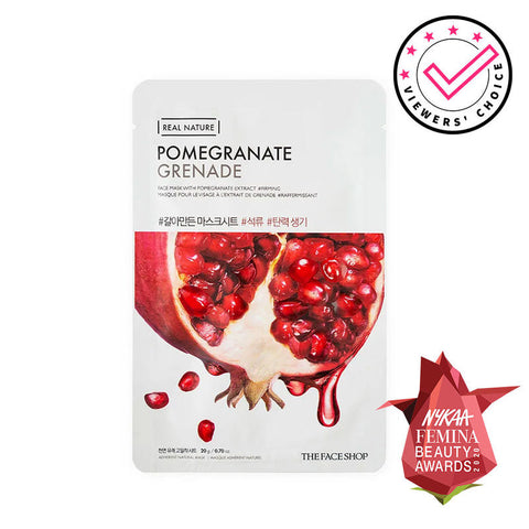 THEFACESHOP pomegranate mask real nature sheet mask canada montreal toronto korean skincare cosmetics