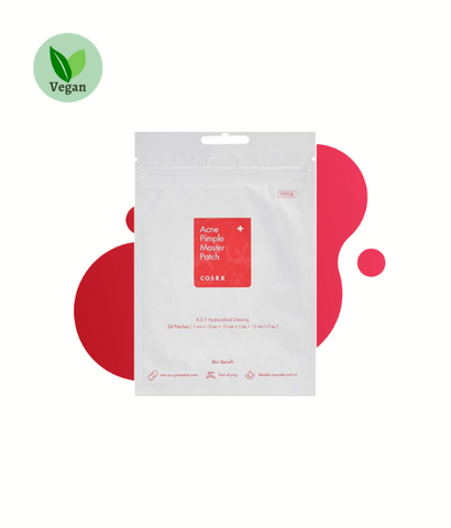Cosrx-Acne Pimple Master Patch (24 Patches) asian korean skincare montreal toronto canada thekshop thekshop.ca natural organic vegan cruelty-free cosmetics