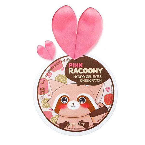 SECRET KEY Pink Racoony Hydro-Gel Eye & Cheek Patch Canada Korean Skincare Montreal Toronto thekshop