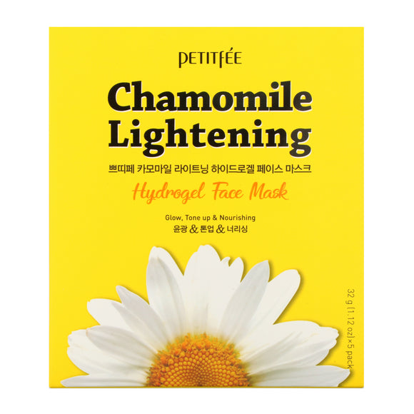 PETITFEE CHAMOMILE  Lightening, Hydrogel Face Mask