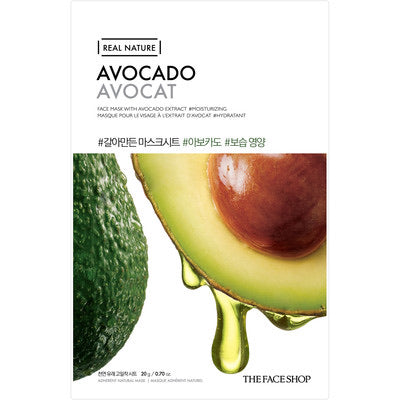 THEFACESHOP avocado face mask korean sheet mask canada montreal toronto