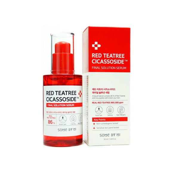 Some By Mi Red Teatree Cicassoside Derma Solution Serum asian authentic genuine original korean skincare montreal toronto canada thekshop thekshop.ca natural organic vegan cruelty-free cosmetics