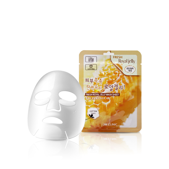 3W CLINIC  FRESH ROYAL JELLY MASK SHEET