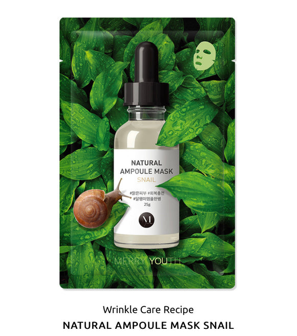 MERRY YOUTH SNAIL  Natural Ampoule Mask