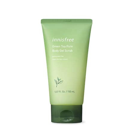 INNISFREE Green tea pure body gel scrub asian korean skincare cosmetics canada montreal toronto