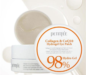 PETITFEE - Collagen & CoQ10 Hydrogel asian korean skincare montreal toronto canada thekshop thekshop.ca natural organic vegan cruelty-free cosmetics Eye Patch