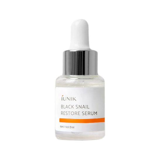 IUNIK Black Snail Restore Serum Mini 15 ml asian authentic genuine original korean skincare montreal toronto canada thekshop thekshop.ca natural organic vegan cruelty-free cosmetics