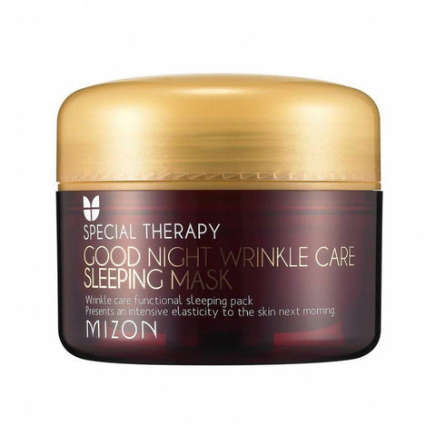MIZON Good Night Wrinkle Care Sleeping Mask asian korean skincare montreal toronto canada thekshop thekshop.ca natural organic vegan cruelty-free cosmetics