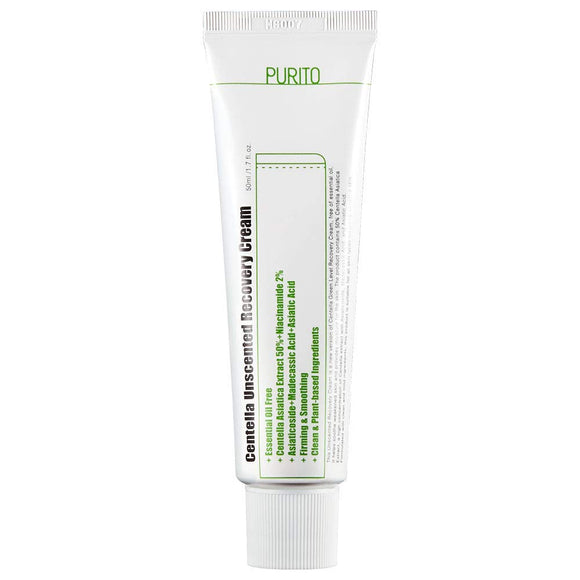 PURITO Centella Unscented Recovery Cream 50ml asian korean skincare montreal toronto canada thekshop thekshop.ca natural organic vegan cruelty-free cosmetics