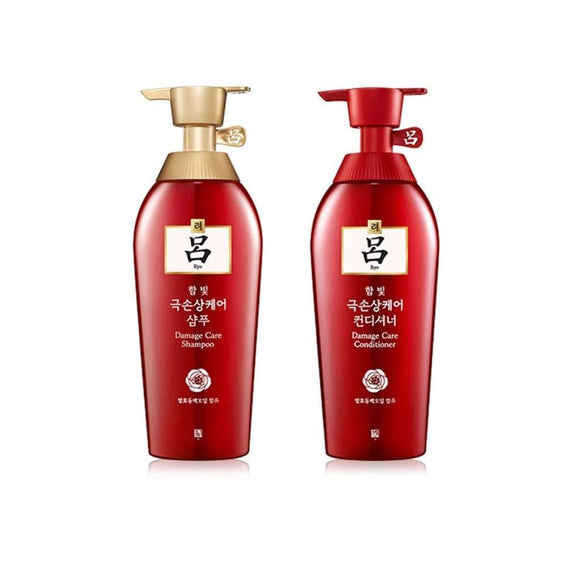 Ryo Korea Damage Care Set - Shampoo and Conditioner asian authentic genuine original korean skincare montreal toronto canada thekshop thekshop.ca natural organic vegan cruelty-free cosmetics