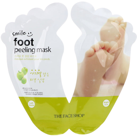 the face shop smile foot peeling mask asian authentic genuine original korean skincare montreal toronto canada thekshop thekshop.ca natural organic vegan cruelty-free cosmetics