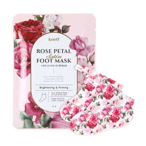 KOELF Rose Petal Satin Foot Mask asian authentic genuine original korean skincare montreal toronto canada thekshop thekshop.ca natural organic vegan cruelty-free cosmetics