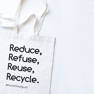 Reduce, Refuse, Reuse, Recycle - Grocery Bag