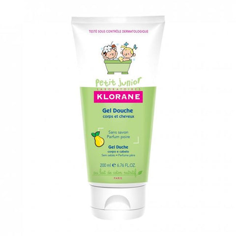 Klorane Petit Junior Shower Gel Hair and Body Pear 200ml