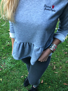 SWEAT BISOUS - GRIS