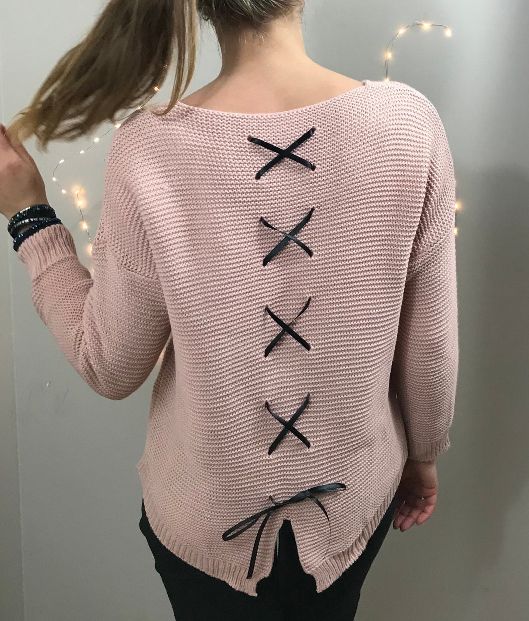 PULL LACETS - ROSE
