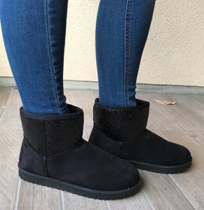 BOTTINES BI-MATIERE