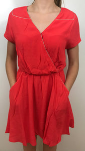 ROBE POCHES - ROUGE