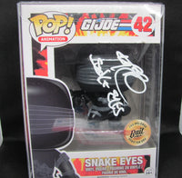 Ray Park Signed Autographed Snake Eyes G.I. Joe Funko Pop 42 BECKETT COA