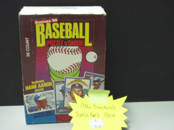 1986 Donruss Baseball Unopened Wax Box - Canseco RC